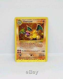 Charizard Shadowless Base Set Holo Rare 4/102 Original Pokemon Card Collection