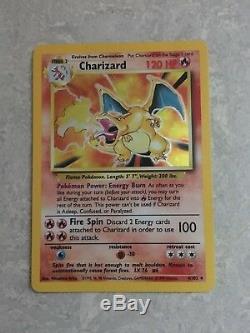 Complete Base Set 102/102 Near Mint/Mint Pokemon Cards Charizard 4/102 Rare