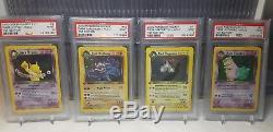 Complete Psa 9 Mint Team Rocket 1st Edition Holo 18 Card Set Secret Rare Pokemon