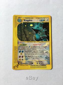Crystal Kingdra 148/147 (Aquapolis) NM Ultra Rare Pokemon Card