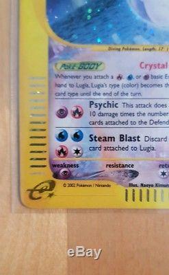 Crystal Lugia HOLO Pokemom Card Aquapolis Secret Rare 149/147 Mint Condition PSA