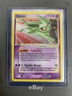 Espeon Gold Star 16/17 Pop Series 5 Ultra Rare Pokemon Card MP Condition