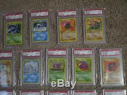 FOSSIL COMPLETE 32 PSA 10 GEM MINT Uncommon and Common Pokemon Cards 31-62 S25