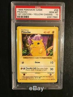 Ghost Pikachu error card. PSA graded Gem Mint 10 Base set Very rare