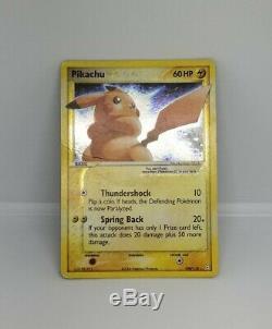 Gold Star Pikachu Holo Rare Pokemon Card Original Ex Rocket Returns Set 104/110