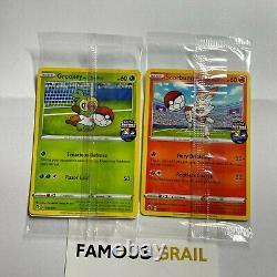 Grookey & Scorbunny On The Ball Pokemon FA England Futsal Card SEALED BUNDLE