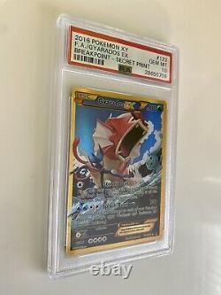Gyarados EX PSA 10 Gem mint Breakpoint X And Y 123/122 Secret Rare Pokemon Card