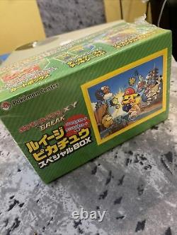 Japanese Pokemon Center (Mario) Luigi Pikachu Card Box 295/XY-P 296 XY-P Sealed