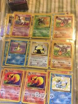 Lot of Old Rare Pokemon Cards including Original Charizard and MORE