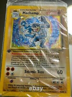 Machamp (1st Edition Pokemon Card) IN ORGINAL PLASTIC, NO BENDS, PERFECT