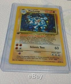 Machamp 8/102 Base Set 1st Edition Rare Holo Card Wizards 1999 Pokemon