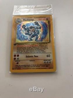 Machamp Pokemon Card 1st Edition 8/102 New 10/10 Shiny Holo Original Base Set