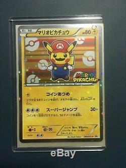 Mario Luigi Pikachu 4 set Japanese Pokemon Card PCG Promo Holo rare NM