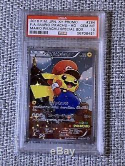 Mario Pikachu PSA 10 Pokemon Card (Very Rare!)