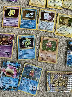 Massive Rare Old Pokemon Card Collection Lot Holographic Great Condition