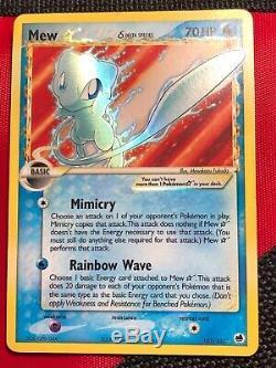 Mew gold star Delta Species 101/101 Ultra Rare Pokemon Card