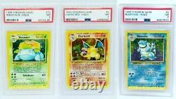 Mint Charizard Blastoise Venusaur Pokemon Card Original Holos PSA Original