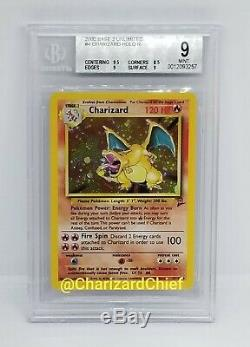 Mint Charizard Pokemon Card Holo Rare Base Set 2 Foil Original Collection #4 Bgs