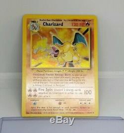 Mint Holo Bleed Charizard Rare Base Set Collection Holo Pokemon Card 4/102