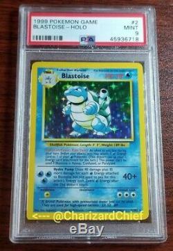 Mint Miscut Blastoise Holo Rare Base Set Collection Foil PSA Pokemon Card 2/102