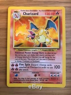 NEAR MINT! Charizard (4/102) Base Set Holo Pokemon Card. Rare! Fast & FREE P&P