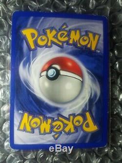 NO Damage Ninetales 12/102 Base Set Shadowless Pokemon card TCG ERROR RARE