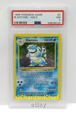 Original Blastoise Holo Rare Base Set Pokemon Card Collection 2/102 Psa Foil