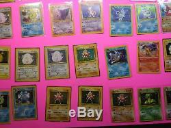 Original Pokemon Cards Holo foil lot blastoise charizard base