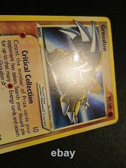 PL/LP Pokemon (Gold Star) GROUDON Card EX DELTA SPECIES Set 111/113 Holo Rare AP