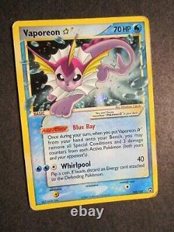 PL Pokemon (Gold Star) VAPOREON Card EX POWER KEEPERS Set 102/108 Holo Rare AP