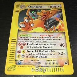 POKEMON Crystal Charizard 146/144 HOLO RARE CARD SKYRIDGE NM