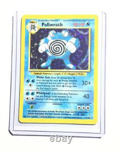 POLIWRATH 13/102 Base Set Holo Pokemon Card EXC / NEAR MINT