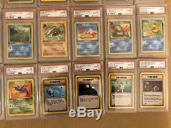 PSA 10 1st Edition Fossil COMPLETE Set 62/62 Pokemon Cards