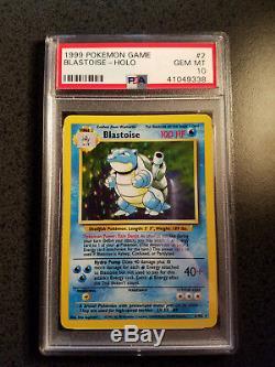 PSA 10 Blastoise Base Set Holo Rare 2/102 Pokemon Card