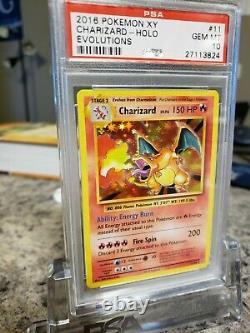 PSA 10 Charizard 11/108 XY Evolutions Holo Rare Pokemon Card GEM MINT