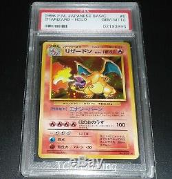 PSA 10 GEM MINT Charizard 006 Japanese Base Set HOLO RARE Pokemon Card