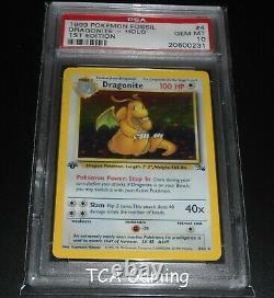 PSA 10 GEM MINT Dragonite 4/62 1ST EDITION Fossil Set HOLO RARE Pokemon Card