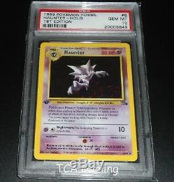 PSA 10 GEM MINT Haunter 6/62 1ST EDITION Fossil Set HOLO RARE Pokemon Card