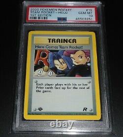 PSA 10 GEM MINT Here Comes Team Rocket! 15/82 1ST EDITION HOLO RARE Pokemon Card