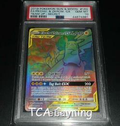 PSA 10 GEM MINT Pikachu & Zekrom 184/181 SM Team Up HYPER RARE Pokemon Card