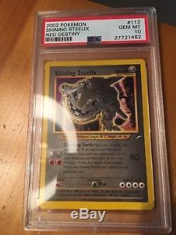 PSA 10 GEM MINT Shining Steelix Secret Rare Neo Destiny Pokemon Card 112/105