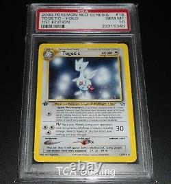 PSA 10 GEM MINT Togetic 16/111 1ST EDITION Neo Genesis HOLO RARE Pokemon Card