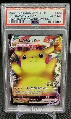 PSA 10 Pikachu VMAX Promo 123 PikaPika Campaign Japanese Pokemon Card