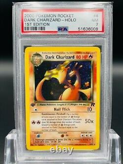PSA 7 1st Edition Dark Charizard 4/82 Team Rocket Set Holo Rare Pokemon Card