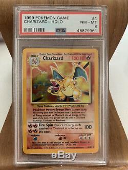 PSA 8 Base Set Charizard Holo Rare 4/102 Pokemon Card 1999 NM-Mint