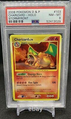 PSA 8 Charizard Stormfront Secret Rare Shiny Holo 103/100 Pokemon Card 2008