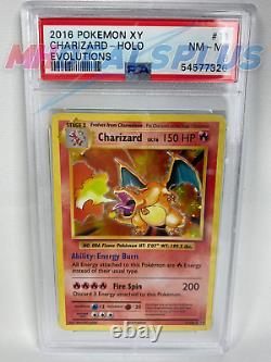 PSA 8 NM-MINT Charizard 11/108 XY EVOLUTIONS HOLO RARE Pokemon TCG Trading Card