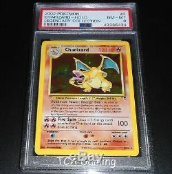 PSA 8 NM-MINT Charizard 3/110 Legendary Collection HOLO RARE Pokemon Card