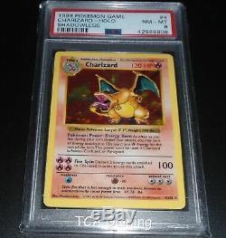 PSA 8 NM-MINT Charizard 4/102 SHADOWLESS Base Set HOLO RARE Pokemon Card
