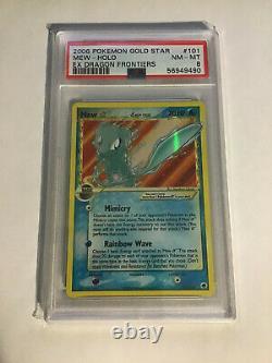 PSA 8 NM-MINT Mew Gold Star Ultra Rare Pokemon Card ex Dragon Frontiers 101/101